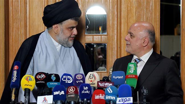 Haidar Abadi-Muqtada Sadr Umumkan Aliansi Kedua Partai Mereka