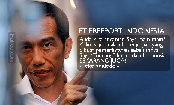 Jokowi Tendang Freeport