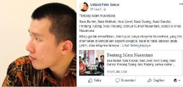 Felix Siauw Sebut Pendukung Islam Nusantara Sebagai Pengikut Nabi Luth