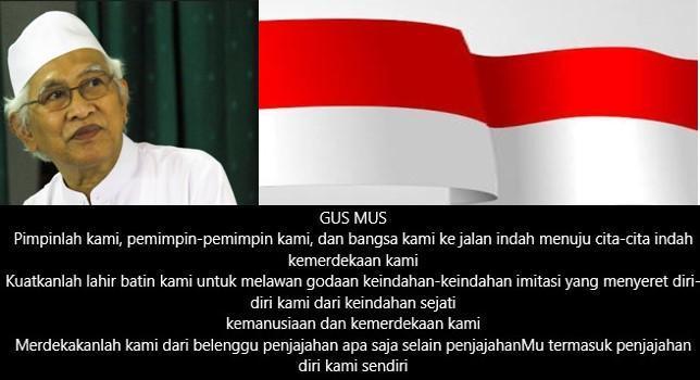 Puisi Gus Mus: Doa Kemerdekaan