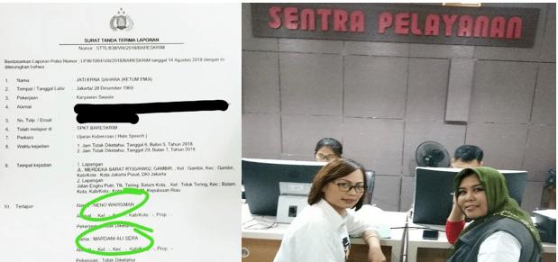 Emak Militan Jokowi Laporkan Mardani dan Neno ke Bareskrim Terkait Makar