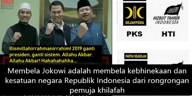 Pilpres 2019, Pertarungan antara Khilafah dan Islam Nusantara