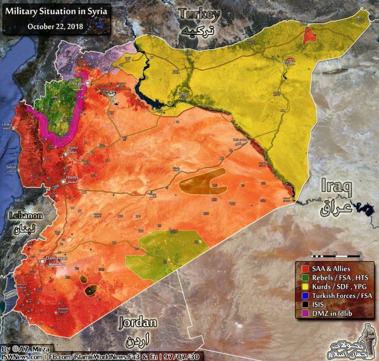 Peta Pertempuran Baru di Suriah: Oktober 2018