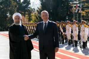 Hassan Rouhani dan Barham Salih