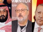 Foto MbS, Jamal Khashoggi dan Erdogan