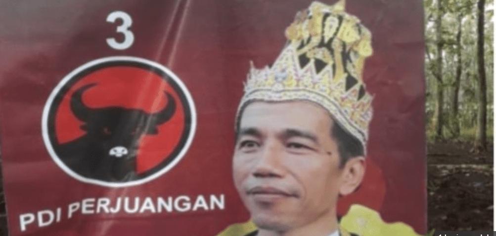 Pemasang Poster 'Raja Jokowi' Dapat Arahan Pihak Tertentu