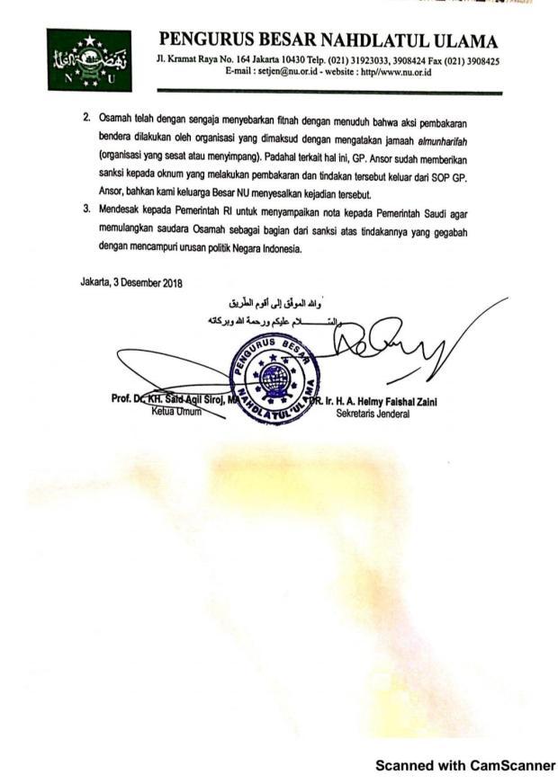 Press Release PBNU
