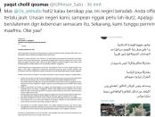 Cuitan Gus Yaqut ke Dubes Saudi