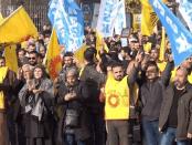 Demo Warga Diyarbakir Turki