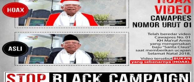 Hoax KH Ma'ruf Pakai Baju Santa