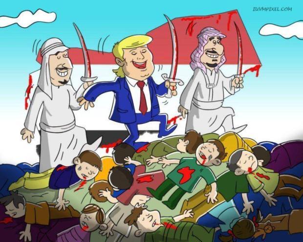 Karikatur Arab Saudi dalam Perang Yaman