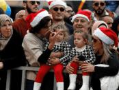 Warga Palestina rayakan Natal