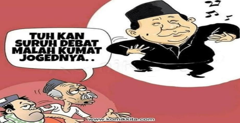 Viral, Aksi Joget Prabowo dan Pijatan Sandiaga di Debat Perdana Capres-Cawapres