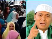 Detik-detik Ceramah Sugi Nur disemprot Jemaah Wanita Karena Sebut Cebong