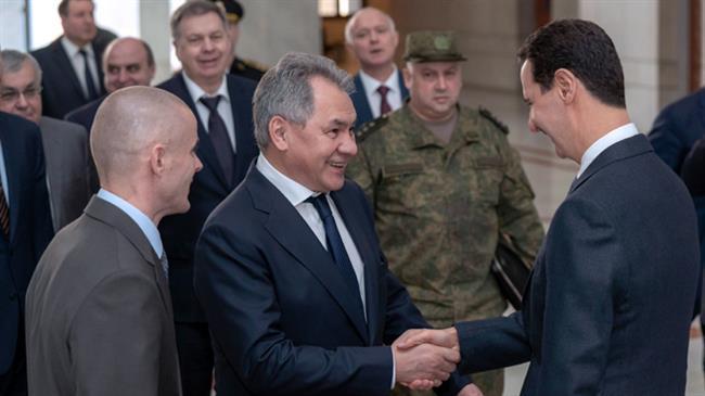 Sampaikan Pesan Putin, Shoigu: Rusia akan Terus Dukung Suriah