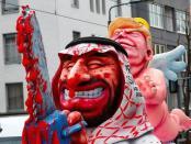 Sang Pembunuh dan Pelindungnya, Karnaval Jerman Pertontonkan Ejekan ke MbS dan Trump