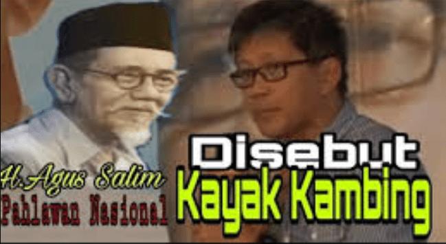 """Hasil gambar untuk Video Rocky Gerung Sebut KH Agus Salim """"Kambing Berjenggot"""""""