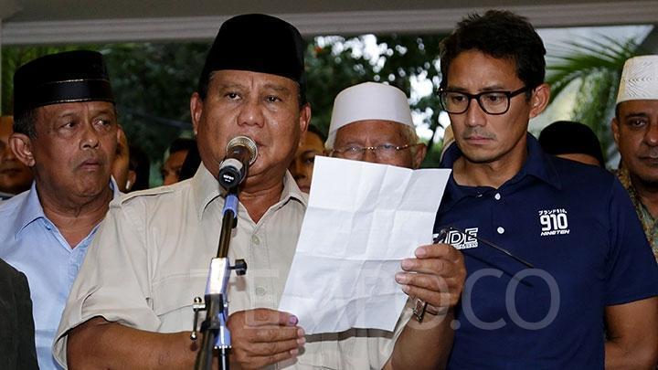 6 Manuver Aneh Kubu Prabowo-Sandi