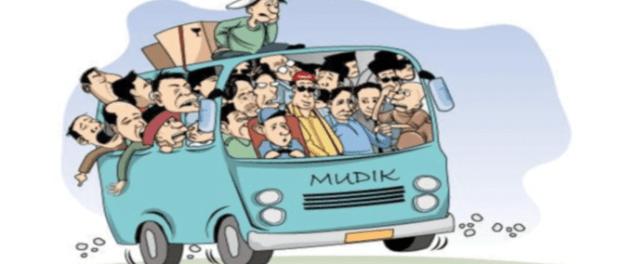 Karikatur Mudik Lebaran