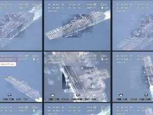 Foto-foto Drone Iran di USS Boxer