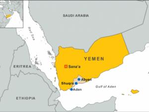 Peta Yemen