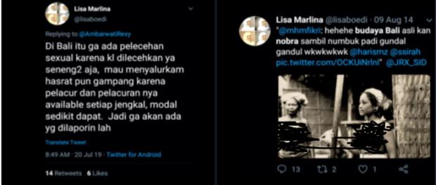 Cuitan Hinaan Lisa Marlina