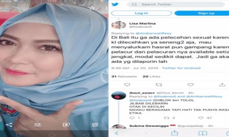 Cuitan akun twitter Lisa Marlina