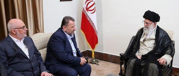 Ayatollah Ali Khamanei dan Delegasi Hamas