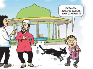 @PicPoskotaNews, Anjing Masuk Masjid