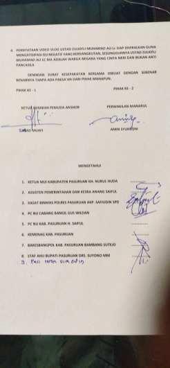 Surat Kesepakatan Bersama