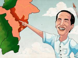 Ilustrasi Jokowi pindahkan ibukota