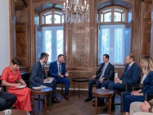 Presiden Bashar Assad dan Delegasi Rusia