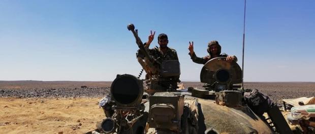 Tentara Suriah di Gurun Sweida