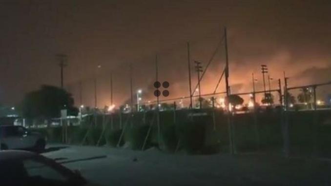 Kebakaran di Aramco