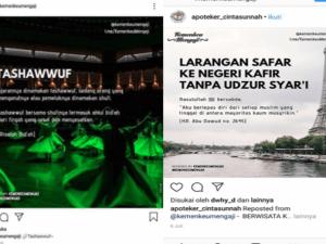 GEGER! Akun Instagram Kemenkeu Mengaji Sesatkan Ajaran Tasawuf