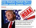 Iran Siapkan Hadiah Rp1,1 Triliun untuk Kepala Trump: HOAX