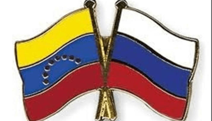 Bendera Rusia dan Venezuela