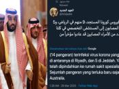 Geger, 14 Pangeran Saudi Terinfeksi Corona