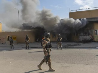 VIDEO Dua Roket Jatuh Dekat Kedutaan AS di Baghdad