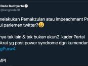 "Eko Kuntadhi: Perppu Jokowi Buyarkan Mimpi Para ""Mafia"" Anggaran"