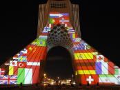 Video: Pesan Solidaritas Dunia Hadapi Pandemi Corona di Menara Azadi Iran