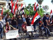Demo Penyandang Cacat Latakia Suriah Kutuk AS atas Penerapan Caesar Act