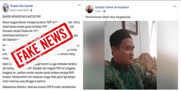 Sebar Narasi Adu Domba Ansor dan PDIP, Ustadz HTI Dilabrak Banser