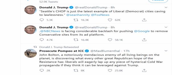 Kocak! Trump Tertipu dan Retwit Cuitan Lawan Politiknya