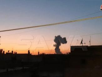 Video Ledakan Dahsyat Gudang Amunisi Milik Pemberontak Suriah di Hasakah