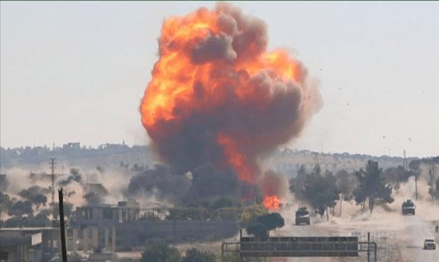 video patroli rusia turki diserang bom di idlib patroli rusia turki diserang bom di idlib
