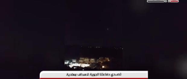 Video: Pertahanan Udara Suriah Cegat Rudal Israel di Selatan
