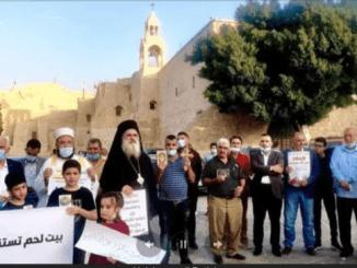 Para Pemimpin Islam-Kristen Unjuk Rasa di Betlehem Kecam Macron Hina Nabi