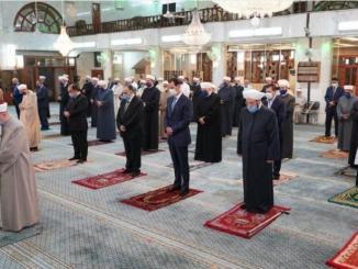 Presiden Assad Ikut Perayaan Maulid Nabi Muhammad Saw di Masjid Sa'ad bin Mo'az di Damaskus