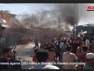Demo Warga Hasakah Tolak Milisi QSD